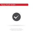 check mark icon for web business finance and vector image vector image