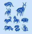 chinese zodiac eastern calendar traditional china vector image vector image