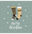 Christmas card Christmas stocking vector image vector image