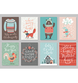 Christmas card set hand drawn style