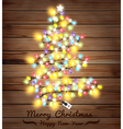 Christmas tree made of christmas lights vector image