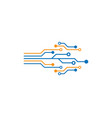 circuit technology logo vector image vector image