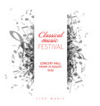 classical music concert poster template vector image vector image