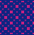 colorful pink and navy blue geometric seamless vector image vector image