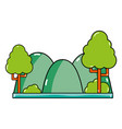 countains with trees and ecology landscape vector image vector image