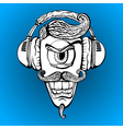Cyclops with headphones listening to music vector image vector image