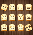 different emotions of sliced bread vector image