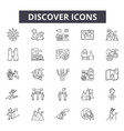 discover line icons signs set outline vector image vector image