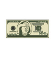 dollar omg portrait franklin usa money american vector image