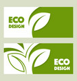 eco design abstract design web banner vector image