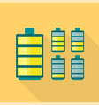 electric battery icon flat style vector image