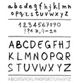 English handwriting alphabet vector image vector image