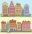 European street landscape vector image vector image