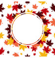 frame leaves background vector image vector image