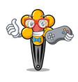 gamer hair clip mascot cartoon vector image