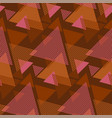 geometric textured triangle seamless pattern vector image vector image