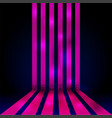 glowing neon banner stripes vector image