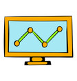graph on the computer monitor icon icon cartoon vector image