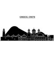 greece crete architecture city skyline vector image vector image