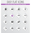 Grocery store icons set vector image