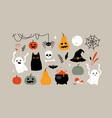 halloween and design elements set vector image