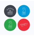 Hotel airplane and clean room icons vector image