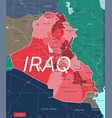 irak country detailed editable map vector image vector image