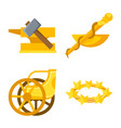 isolated object attributes and greek symbol vector image