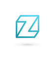 Letter Z cube logo icon design template elements vector image vector image