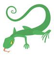 lizard icon cartoon style vector image vector image