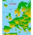 map of european continent vector image