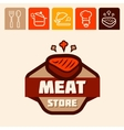 meat store logo vector image