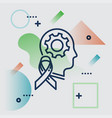 mental health background in trendy minimal style vector image