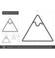 mountain summit line icon vector image