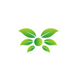 nature leaf logo design icon element vector image vector image