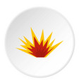 nuclear explosion icon circle vector image vector image