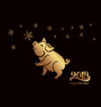 pig is a symbol of the 2019 chinese year greeting vector image