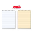Realistic Notepad Set Isolated on White vector image