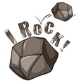 Rock English expression on white vector image