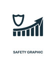 safety increase graphic icon mobile apps vector image vector image