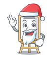 santa easel mascot cartoon style vector image