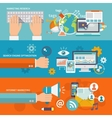 Seo Internet Marketing Banner vector image vector image