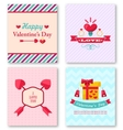 Set Beautiful Brochures for Happy Valentine Day vector image