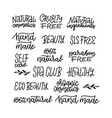 set lettering quotes template for design logos vector image