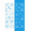 set of 2 startup vertical banners in thin vector image