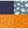 set seamless patterns for halloween vector image