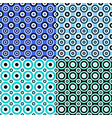simple seamless circle pattern background set vector image vector image