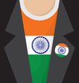 T-Shirt With India Flag vector image vector image