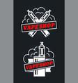 vape shop hipster vintage retro logo vector image