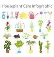 window gardening ifographic elements vector image vector image